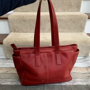COACH Red Leather Satchel bag